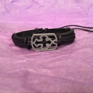 Handmade Cross Adjustable tribal bracelet